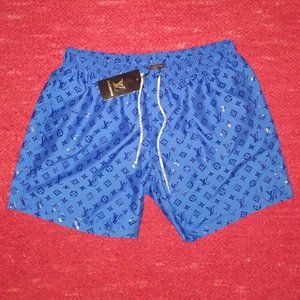 LOUIS VUITTON BLUE SWIM SHORT NWT